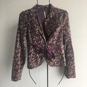 Free People floral velvet blazer